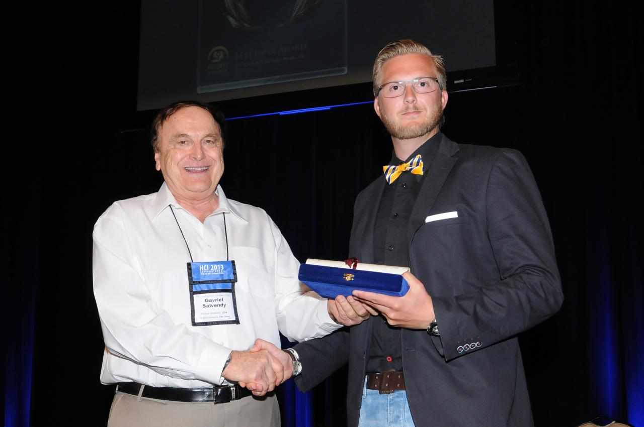 Best Paper Award for the Human-Computer Interaction thematic area